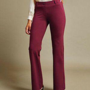Betabrand yoga dress pants burgundy size small